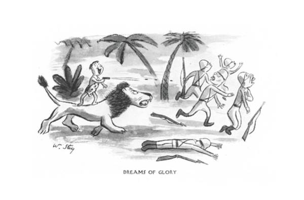 Attack Drawing - Dreams Of Glory by William Steig