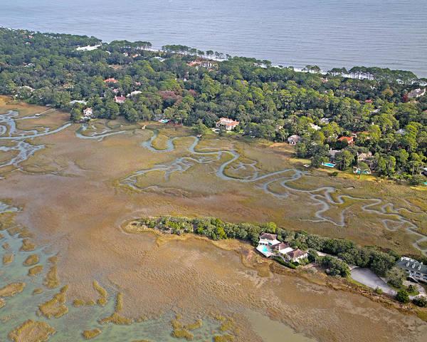 Jekyll Island Photograph - East Coast Aerial Near Jekyll Island by Betsy Knapp