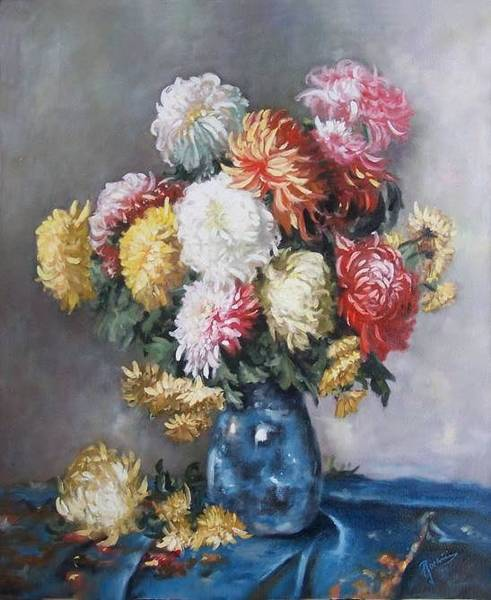 Wall Art - Painting - Flowers by George Barbu