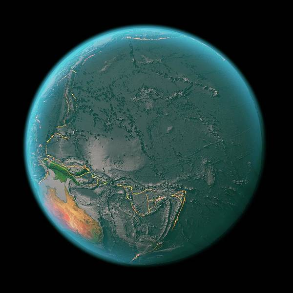 Fire Ball Wall Art - Photograph - Global Tectonics by Karsten Schneider/science Photo Library