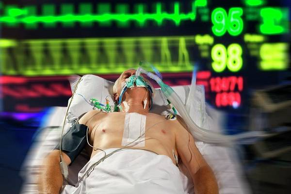 Patient Photograph - Intensive Care Patient by Science Photo Library