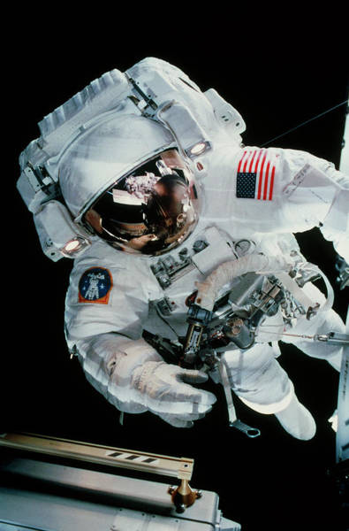 International Space Station Photograph - Iss Space Walk by Nasa/science Photo Library