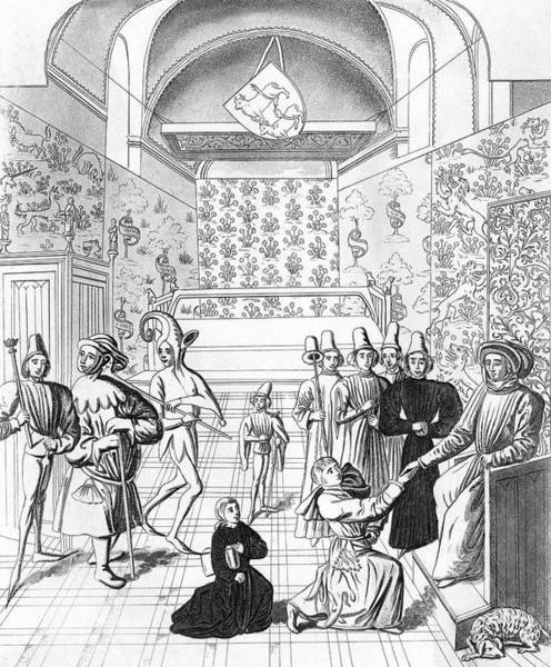 Wall Art - Drawing - Jean Froissart  French Chronicler by Mary Evans Picture Library