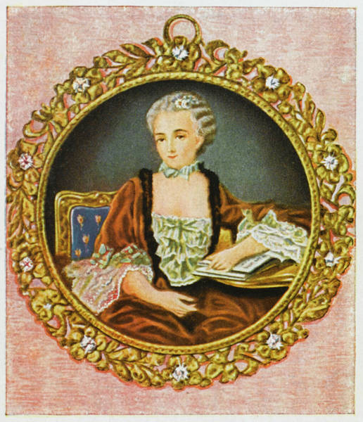 Wall Art - Drawing - Jeanne-antoinette Poisson (marquise De by Mary Evans Picture Library
