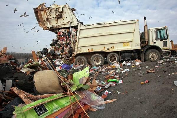 Dump Truck Photograph - Landfill Site by Jim West