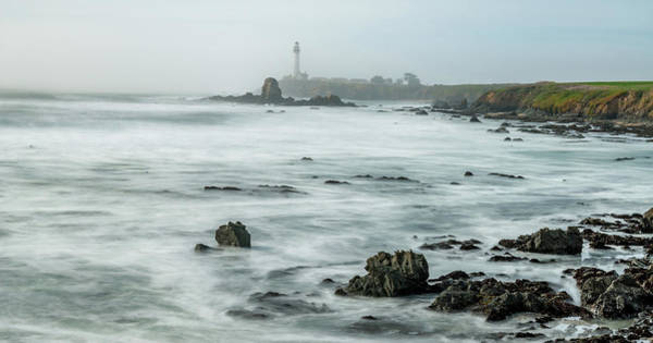 Cabrillo Photograph - Lighthouse On The Coast, Pigeon Point by Panoramic Images