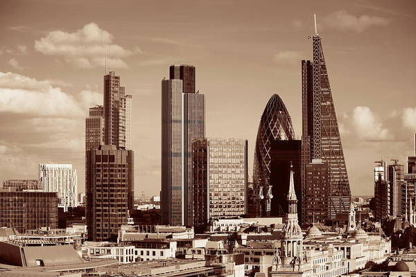 Photograph - London City Rooftop by Songquan Deng