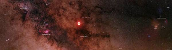 Wall Art - Photograph - Lunar Eclipse And Milky Way by Babak Tafreshi/science Photo Library