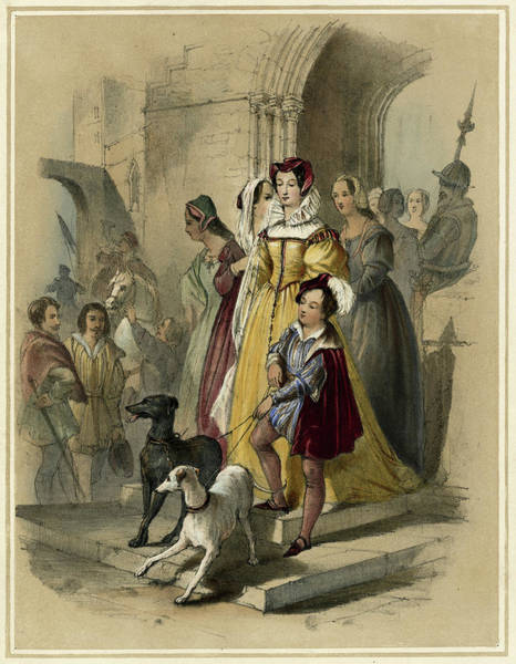 Wall Art - Drawing - Mary I, Queen Of Scots (1542 - 1587) by Mary Evans Picture Library