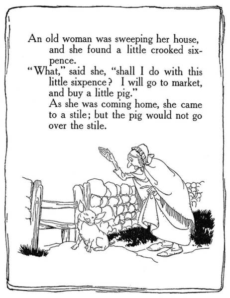 Drawing - Mother Goose, 1913 by Granger