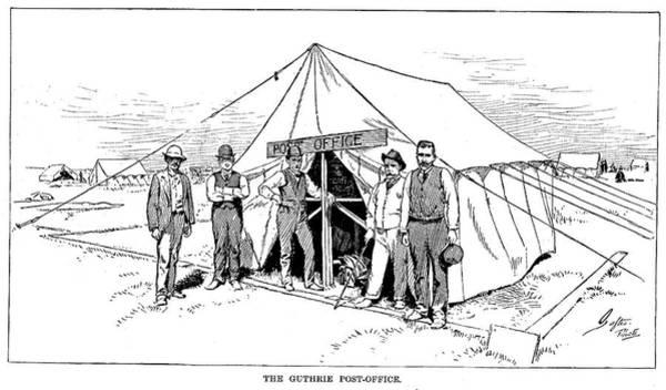 Destiny Drawing - Oklahoma Land Rush, 1889 by Granger