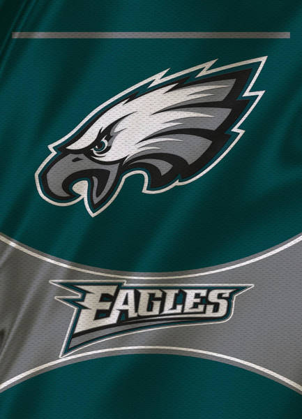 Super Photograph - Philadelphia Eagles Uniform by Joe Hamilton