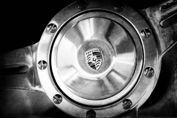 Photograph - Porsche Steering Wheel Emblem by Jill Reger