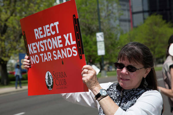Placard Photograph - Protest Against Keystone Xl Pipeline by Jim West
