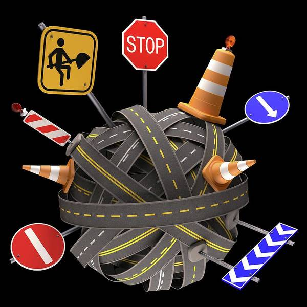 Wall Art - Photograph - Roadworks by Ktsdesign/science Photo Library