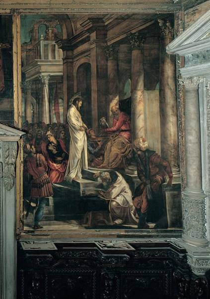 Pontius Pilate Wall Art - Photograph - Robusti Jacopo Known As Tintoretto by Everett