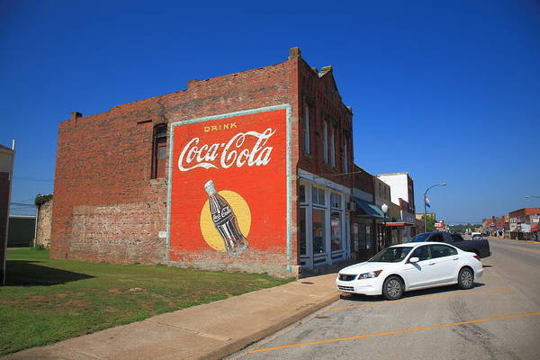 Photograph - Route 66 - Coca Cola Ghost Mural by Frank Romeo
