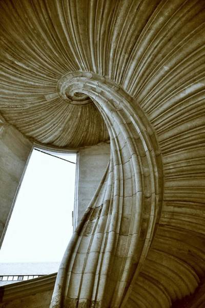 Wall Art - Photograph - Sand Stone Spiral Staircase by Falko Follert