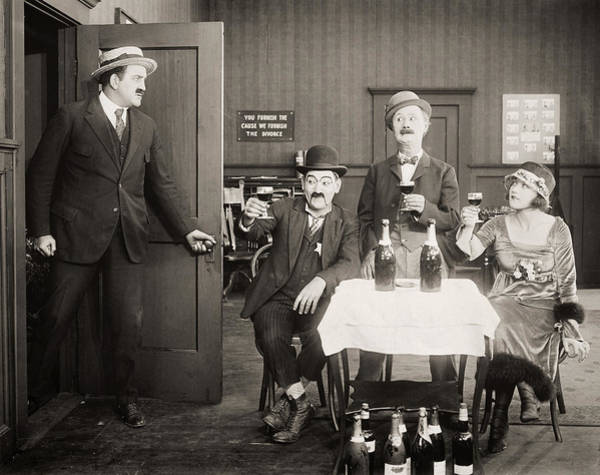 Photograph - Silent Film Still: Drinking by Granger
