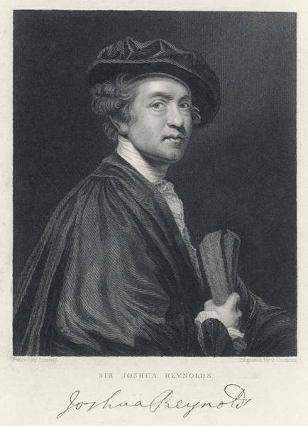 Wall Art - Drawing - Sir Joshua Reynolds  English Portrait by Mary Evans Picture Library