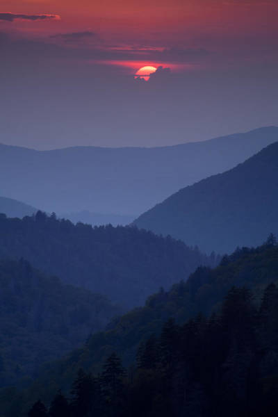 Wilderness Photograph - Smoky Mountain Sunset by Andrew Soundarajan