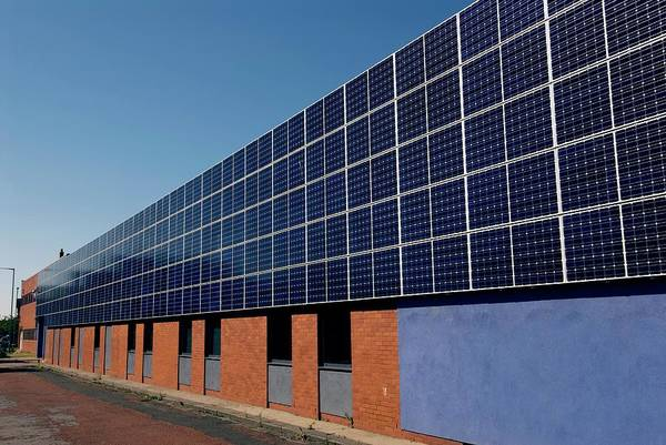 Wall Art - Photograph - Solar Panels by Simon Fraser/science Photo Library