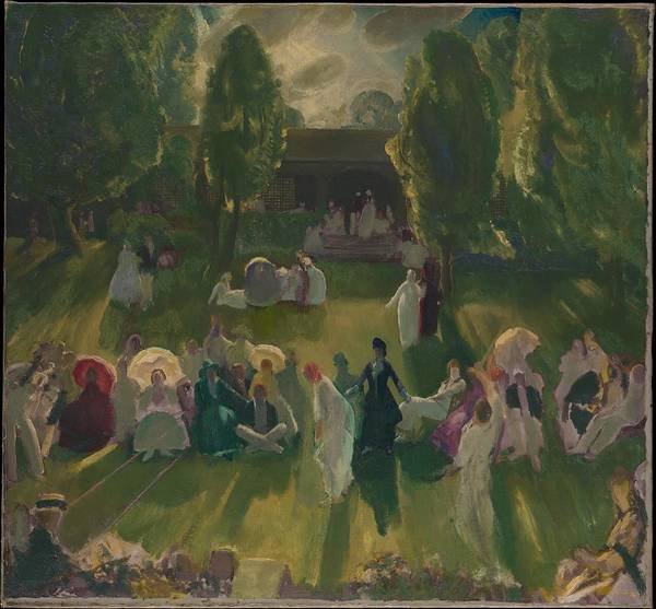 Central America Painting - Tennis At Newport by George Bellows