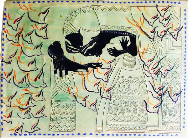 Mama Africa Wall Art - Ceramic Art - The Holy Family by Gloria Ssali