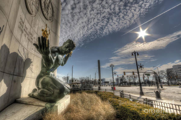 Wrap Photograph - The Spirit Of Detroit by Twenty Two North Photography