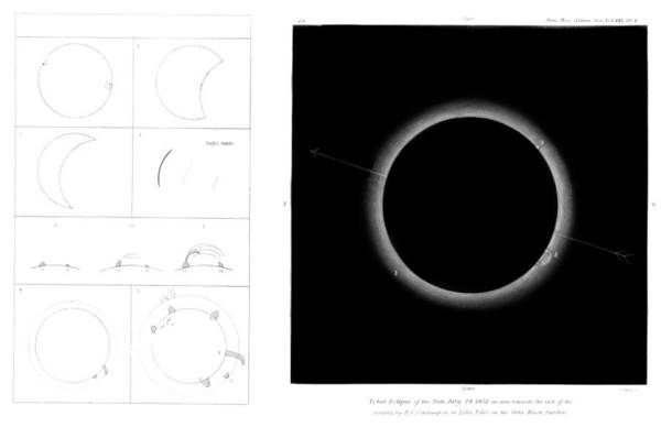 1851 Photograph - Total Solar Eclipse by Royal Astronomical Society/science Photo Library
