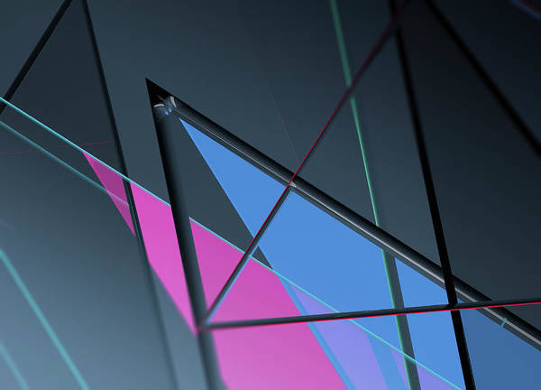 Wall Art - Photograph - Transparent Triangles In Abstract by Ikon Images