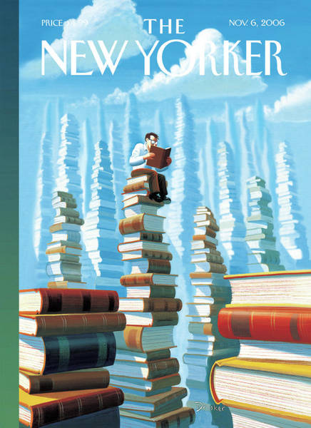 Book Painting - New Yorker November 6th, 2006 by Eric Drooker