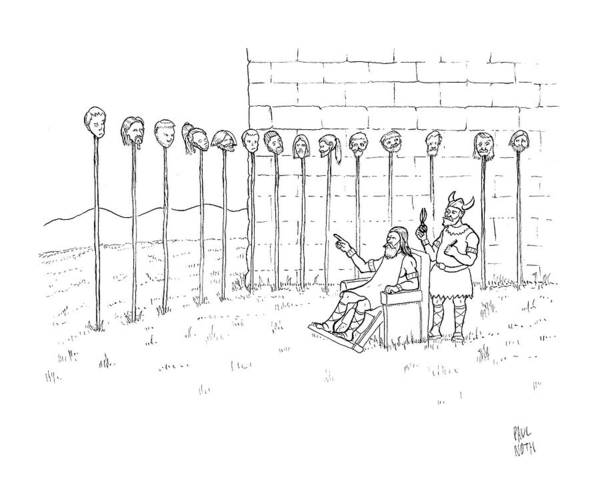Model Drawing - New Yorker September 1st, 2008 by Paul Noth