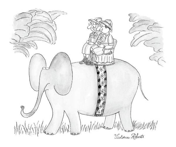 Elephant Drawing - Well, Now We Know What The World Looks Like by Victoria Roberts