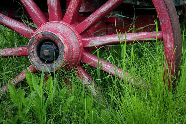 Wagon Wheel Photograph - Usa, Alaska, Chena Hot Springs by Jaynes Gallery