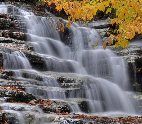 Wall Art - Photograph - Waterfall In Autumn by Stephen  Vecchiotti