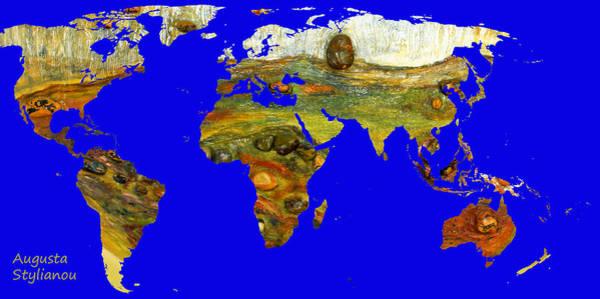 Digital Art - Modern World Map  by Augusta Stylianou
