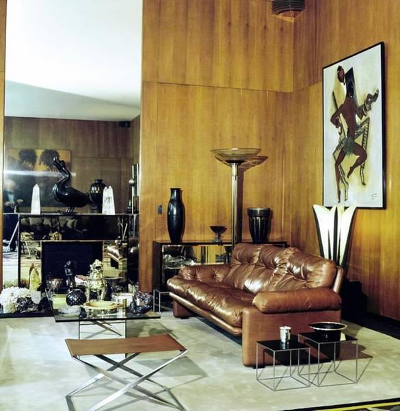 Yves Saint Laurent's Living Room Art Print by Horst P. Horst