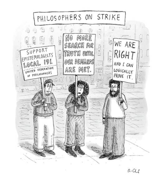 Philosopher Wall Art - Drawing - New Yorker December 3rd, 2007 by Roz Chast