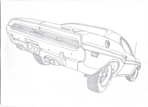 muscle car drawings  page  3 of 5