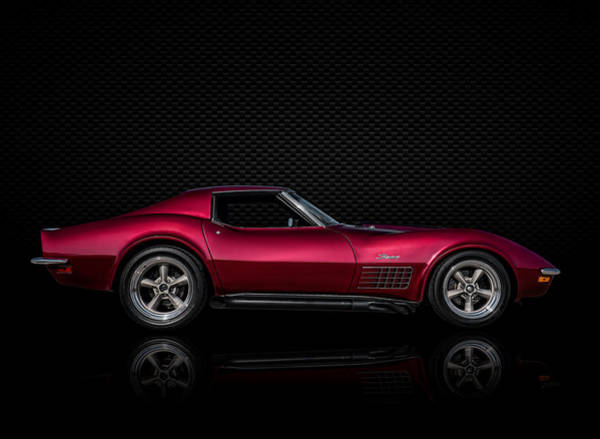 Chevy Corvette Wall Art - Digital Art - '71 Red by Douglas Pittman
