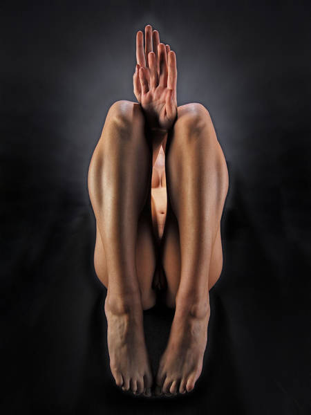Photograph - 7292 Abstract Nude Hands Feet  by Chris Maher