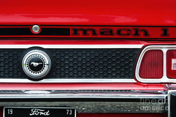 Ford Motor Company Photograph - 73 Mach 1 by Tim Gainey