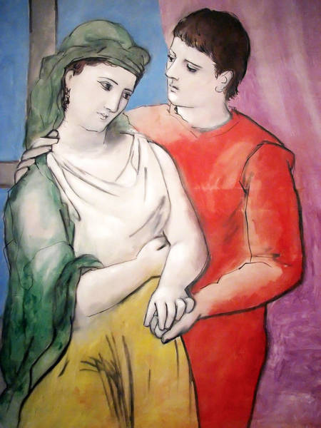 Wall Art - Painting - The Lovers by Pablo Picasso