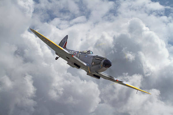 Spitfire Photograph - 74 Sqdn - Spit Xvi by Pat Speirs