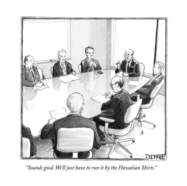 Meeting Drawing - Sounds Good. We'll Just Have To Run by Matthew Diffee