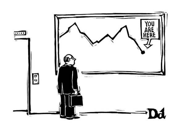 Stocks Drawing - New Yorker June 2nd, 2008 by Drew Dernavich