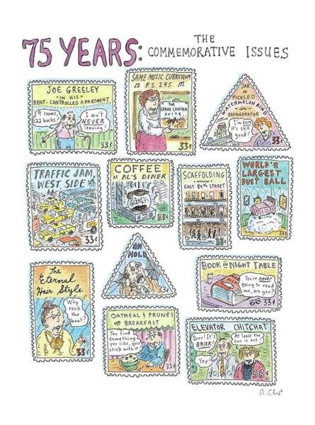 Breakfast Drawing - '75 Years:  The Commemorative Issues' by Roz Chast