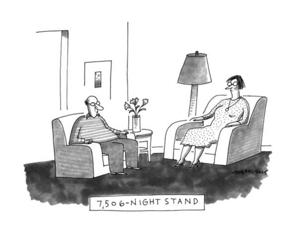 7 Drawing - 7,506-night Stand by Mick Stevens