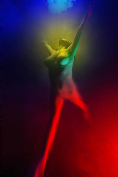 Photograph - 7586 Color Abstract Nude by Chris Maher